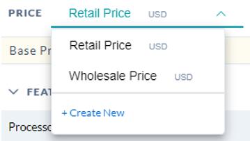 Price Sheet Dropdown