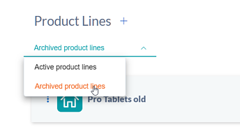 archived product lines